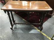 Sale 8817 - Lot 1066 - Inlaid Occasional Table on Turned Legs