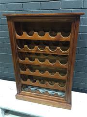 Sale 9006 - Lot 1035 - Timber Open Wine Rack (h:102 x w:72 x d:30cm)