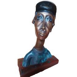 Sale 9093A - Lot 5019 - Frank Miles (1946 - ) - Figural Man, c1997 h. 31cm; stand: h. 11.5 x 20.5 x 2.5 cm