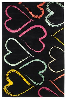 Sale 9090C - Lot 13 - Nepal Painted Hearts Carpet, 224x144cm, Tibetan Highland Wool