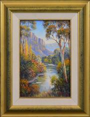 Sale 8415 - Lot 507 - John Bradley (1945 - ) - Capertee Valley Autumn 28 x 18cm