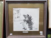 Sale 8491 - Lot 2027 - Les Graham (1942 - ) - Art Critics 24 x 27cm