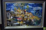 Sale 8541 - Lot 2083 - Essie Nangle (1915 - 2006) - Finger Wharf 49.5 x 75cm