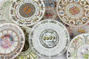 Sale 8604W - Lot 21 - Wedgwood Calendar Plates (1971,1972,1976,1978,1981,1982,1984,1985,1986)