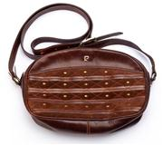 Sale 8640F - Lot 75 - A vintage Pierre Cardin leather handbag, H 16 x W 26cm.