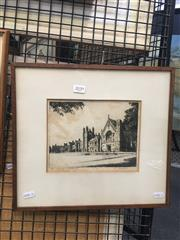 Sale 8751 - Lot 2039 - Drypoint Etching of The Sydney University, signed lower right