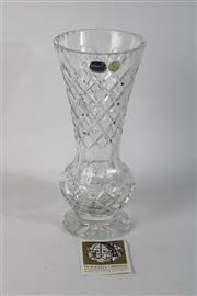Sale 8748 - Lot 90 - Bohemia Crystal vase ( H 31cm)