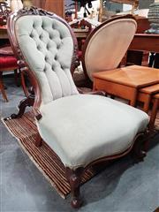 Sale 8831 - Lot 1050 - Victorian Mahogany Ladys Chair