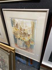 Sale 8865 - Lot 2038 - Kerry Blake Floral Still Life, watercolour, 57 x 50.5cm,