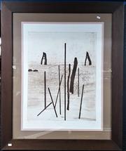 Sale 9061 - Lot 2090 - Artist Unknown - Sur Le Lagune 65 x 55.5 cm (frame: 109 x 90 x2 cm)
