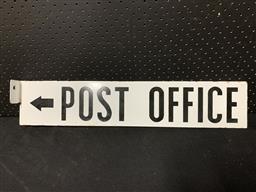 Sale 9117 - Lot 1046 - Double sided enamel POST OFFICE sign (h:13  x 64cm)
