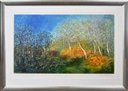 Sale 8286 - Lot 523 - David Boyd ((1924 - 2011) - Orchard on the Ede of the Bush 55 x 93.5cm