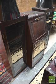 Sale 8310 - Lot 1641 - Bureau Bookcase w Glass Doors & Single Drawer