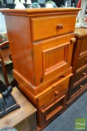Sale 8489 - Lot 1048 - Pair of Pine Bedsides