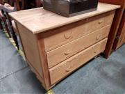 Sale 8700 - Lot 1060 - Pine 4 Drawer Chest on Castors