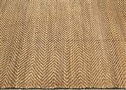 Sale 8709 - Lot 1012 - A very  large herringbone pattern jute rug, W x 370cm x  L approx 525cm