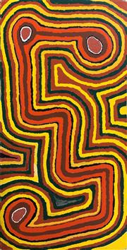 Sale 8733A - Lot 5046 - Richard Tax Tjupurrula (c1935 - ) - Noorloo, 1999 98.5 x 50.5cm