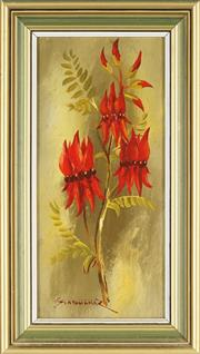 Sale 8807 - Lot 2040 - Zdeny Stodulka (1920 - 2009) - Sturts Desert Pea 28 x 21.5cm