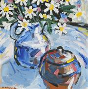 Sale 8838A - Lot 5099 - Margaret Ackland (1954 - ) - Sill life with Flowers, 1988 30.5 x 30.5cm
