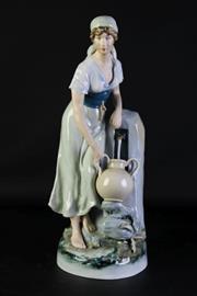 Sale 8989 - Lot 68 - Royal Dux Ceramic Figure Of A Water Carrier H:46cm