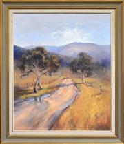 Sale 8309A - Lot 81 - John Sharman (1939 - ) - Study from the Road to Crudine 60 x 49.5cm