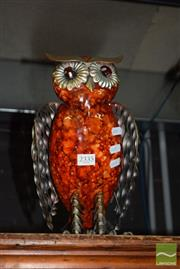 Sale 8509 - Lot 2335 - Metal Owl Figure