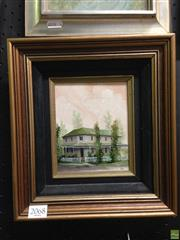 Sale 8622 - Lot 2068 - Diana Lane - Corner House 14 x 13.5cm