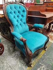 Sale 8831 - Lot 1032 - Victorian Mahogany Gentlemans Chair