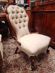Sale 8831 - Lot 1010 - Victorian Walnut Ladys Chair