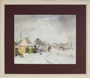 Sale 8891 - Lot 2084 - Lillie Lowe - Snow at Forbes Road, Orange 33 x 43 cm