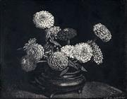 Sale 8896A - Lot 5023 - Lionel Lindsay (1874 - 1961) - Zinnias, 1924 (from the Twenty-one woodcuts series) 10 x 12.5 cm