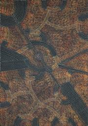 Sale 8895A - Lot 5006 - Gracie Morton Pwerle (c1956 - ) - Womens Travelling Tracks 138 x 97 cm