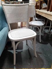 Sale 8934 - Lot 1049 - Set of Six Close Weave Dining Chairs in White