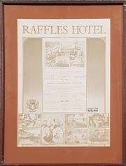 Sale 8961 - Lot 2083 - Raffles Hotel Poster, 58 x 43cm
