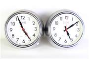 Sale 8980 - Lot 39 - Small Pair Of Newgate Electric Clocks Dia19cm