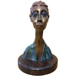 Sale 9143A - Lot 5009 - FRANK MILES (1946 - ) - Figural Woman, c1997 h. 31cm; stand: h.20 cm