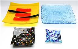 Sale 9173 - Lot 68 - A collection of art-glass plates (28cm x 28cm)