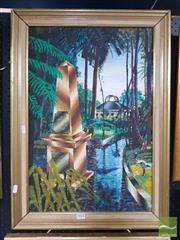 Sale 8552 - Lot 2004 - Nicholas Hamper (1956 - ) - Botanic Garden Sydney, 1984 59.5 x 39.5cm
