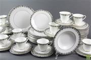 Sale 8594 - Lot 96 - Large Royal Doulton Flowerlace Dinner Wares