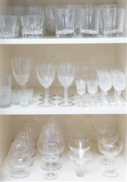Sale 8593A - Lot 57 - Three shelf lots of glass including brandy balloons, tumblers, etc