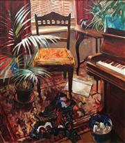 Sale 8755 - Lot 563 - Crawfurd Adamson (1953 - ) - Sunlit Interior 121 x 101cm