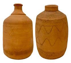 Sale 9093A - Lot 5080 - Stephen Skillitzi (1947- ) - Bottles Vases, c2012 h. 18 x w 17 cm; h. 16 x w.17 cm