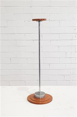 Sale 9146 - Lot 1097 - Vintage timber & metal wig stand (h63cm)