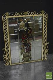 Sale 8368 - Lot 1012 - Metal Framed Peacock Mirror