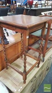 Sale 8390 - Lot 1508 - Oak Barley Twist Occasional Table