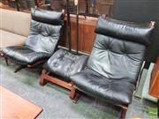 Sale 8451 - Lot 1020 - Pair of West Nofa Chairs with Single Ottoman