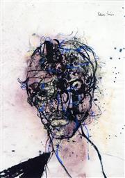 Sale 8565 - Lot 509 - Robert Grieve (1924 - 2006) - Variation on a Portrait 39 x 27.5cm