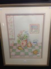 Sale 8655 - Lot 2064 - Sheila Galbraith - The Jug, 71 x 57cm (frame size)
