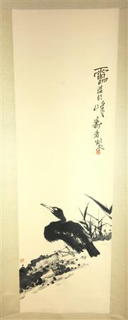 Sale 8649 - Lot 34 - Chinese Scroll of a Bird