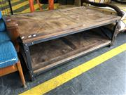 Sale 8769 - Lot 1038 - Recycled Elm Coffee Table with Iron Base